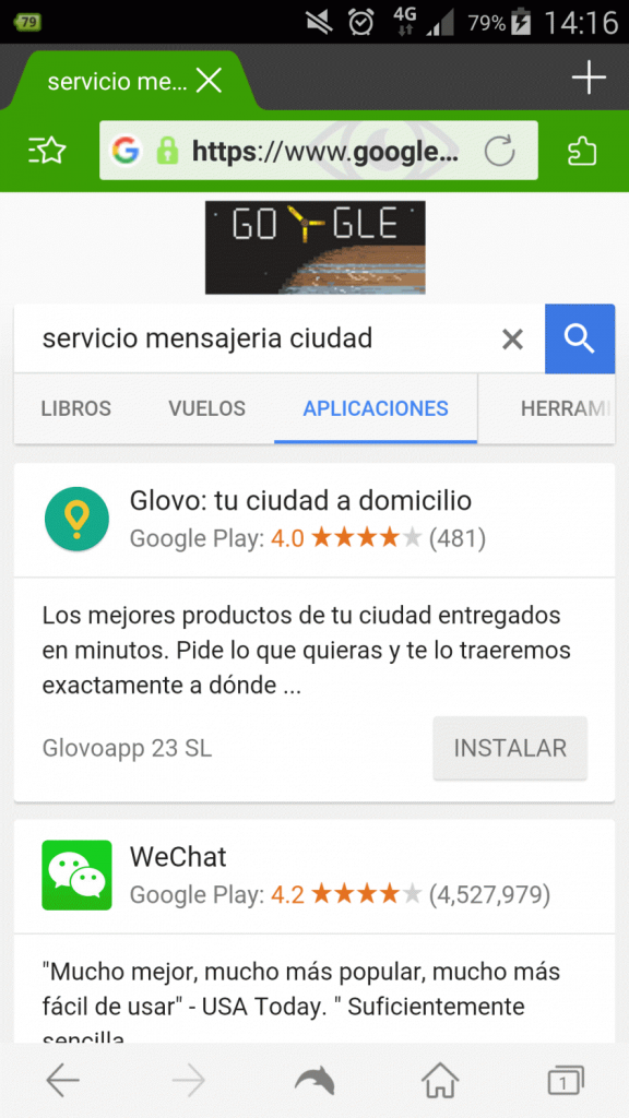SEO Marketing en Glovo app